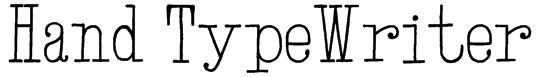 Hand TypeWriter Font