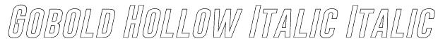 Gobold Hollow Italic Italic Font