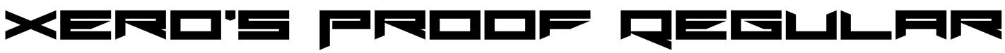 Xero's Proof Regular Font
