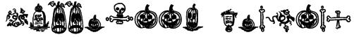 Halloween Borders Font