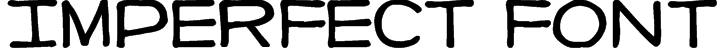 Imperfect font Font
