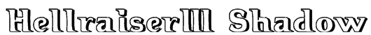 Hellraiser3 Shadow Font
