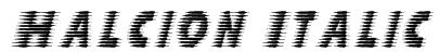 Halcion Italic Font