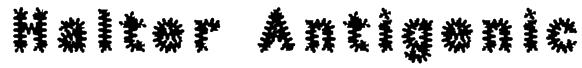 Halter Antigenic Font