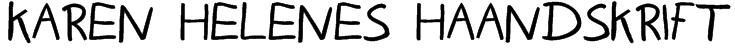Karen Helenes haandskrift Font