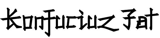 Konfuciuz Fat Font