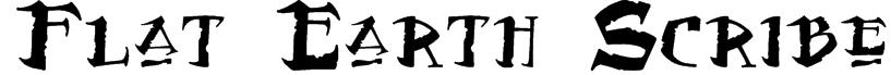Flat Earth Scribe Font