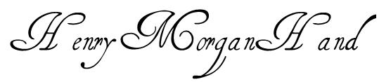 HenryMorganHand Font