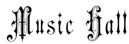 Music Hall Font