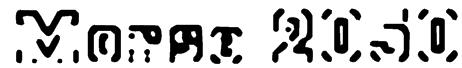 Morse 2050 Font