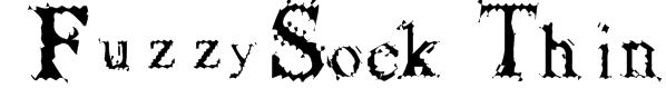 FuzzySock Thin Font