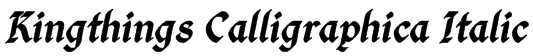 Kingthings Calligraphica Italic Font