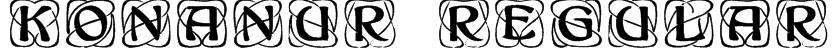 Konanur Regular Font