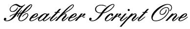 Heather Script One Font