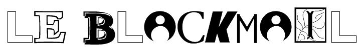 Le BlackMail Font
