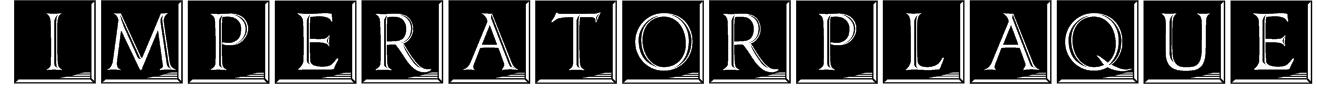 ImperatorPlaque Font