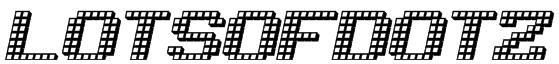 LotsOfDotz Font