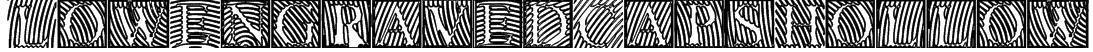LowEngravedCapsHollow Font