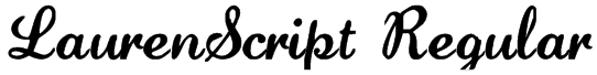 LaurenScript Regular Font