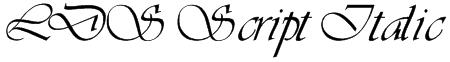 LDS Script Italic Font