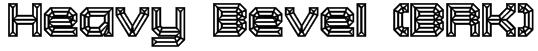 Heavy Bevel (BRK) Font