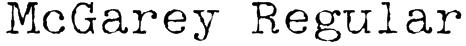 McGarey Regular Font