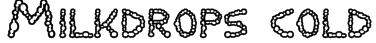 Milkdrops cold Font