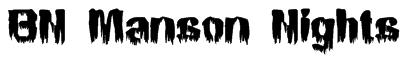 BN Manson Nights Font