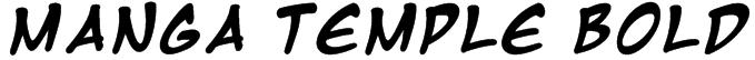 Manga Temple Bold Font