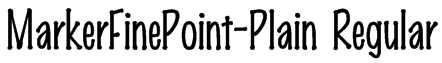 MarkerFinePoint-Plain Regular Font