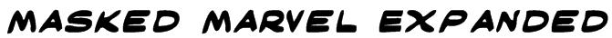 Masked Marvel Expanded Font