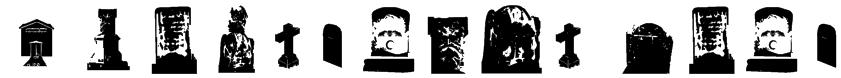 Gravestone bats Font