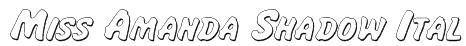 Miss Amanda Shadow Ital Font