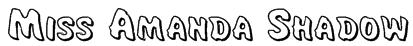 Miss Amanda Shadow Font