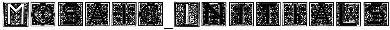 Mosaic_Initials Font