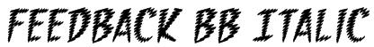 Feedback BB Italic Font