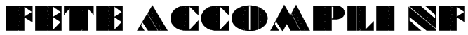 Fete Accompli NF Font