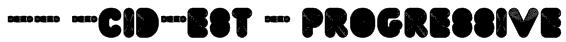 FT AcidTest 2 progressive Font
