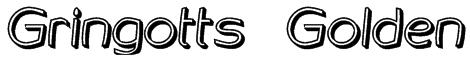 Gringotts Golden Font