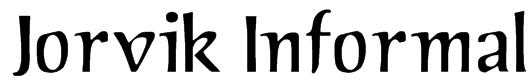 Jorvik Informal Font