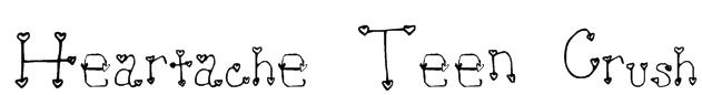 Heartache Teen Crush Font