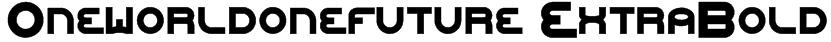 Oneworldonefuture ExtraBold Font