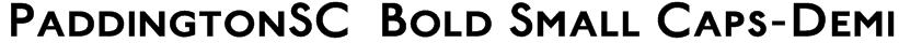 PaddingtonSC  Bold Small Caps-Demi Font
