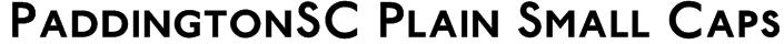 PaddingtonSC Plain Small Caps Font
