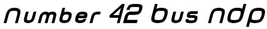 Number 42 Bus NDP Font