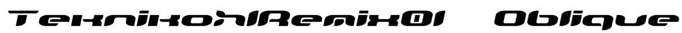 TeknikohlRemix01  Oblique Font