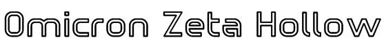 Omicron Zeta Hollow Font