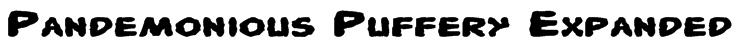 Pandemonious Puffery Expanded Font