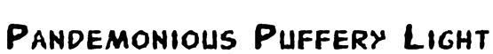 Pandemonious Puffery Light Font