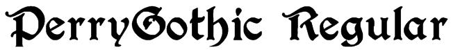 PerryGothic Regular Font